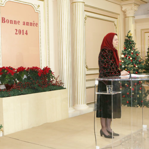 Gathering of sympathizers of the Iranian resistance in France – Auvers-sur-Oise 12 January 2014
