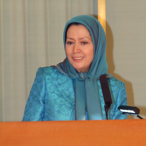 Maryam Rajavi at the Noble Peace Institute, Oslo, Norway – 24 February 2014