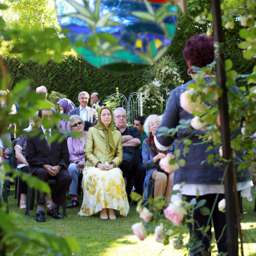 Maryam Rajavi at the flowers festivity in Auvers-sur-Oise, France- June 6, 2015