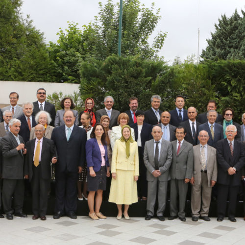 Maryam Rajavi at the meeting of the National Council of Resistance of Iran, June 17 and 18, 2015
