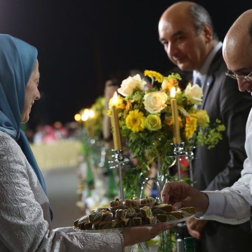 Maryam Rajavi Iran's opposition Leader addresses dignitaries from Arab and Islamic countries and representatives of Muslim communities in France in a major Ramadan conference in Paris on 3 July 2015