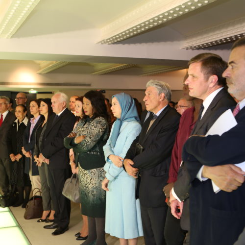 Maryam Rajavi at the International Day against death penalty conference