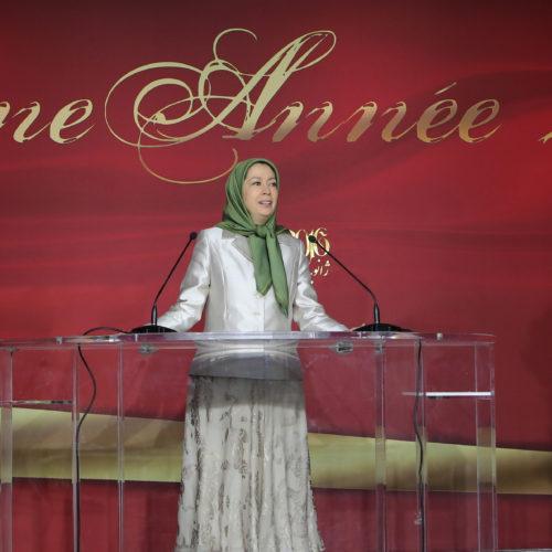 Maryam Rajavi -New Year celebration with French supporters of Iranian resistance, 10 January 2016