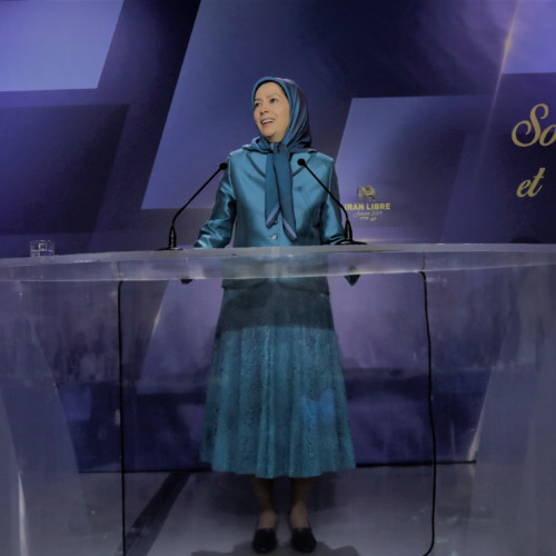 Maryam Rajavi at the New Year ceremony with mayors, elected representatives and supporters of the Iranian Resistance in France – 13 January 2019