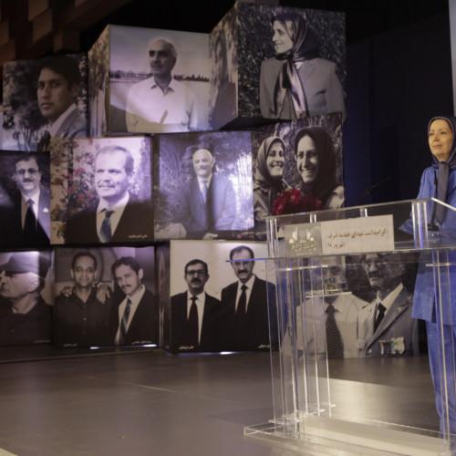 Maryam Rajavi  at  the ceremony commemorating those martyred in Ashraf on September 1, 2013-  September 1, 2019