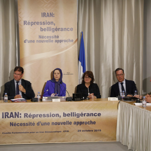"""Maryam Rajavi' Speech at the French National Assembly, conference on """"Iran: Suppression, Belligerence, Need for a Serious Approach"""
