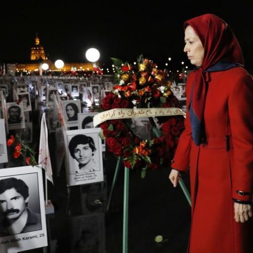 "Maryam Rajavi at ""Iran: Crime against Humanity"" exhibition- October 29, 2019"
