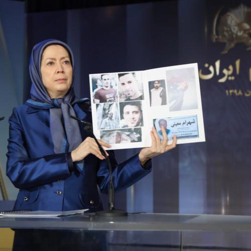 Maryam Rajavi at the commemoration ceremony of martyrs of the Iran uprising – November 2019
