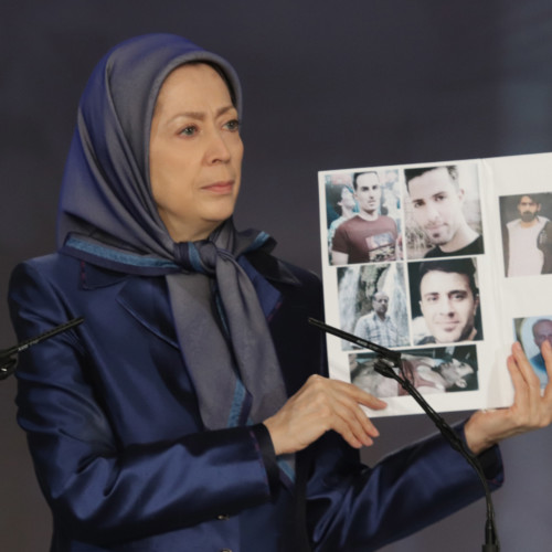 Maryam Rajavi at the commemoration ceremony of martyrs of the Iran uprising – November 2019