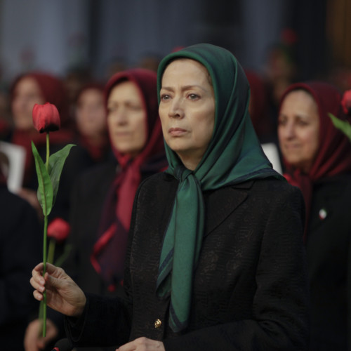 Maryam Rajavi at the ceremony of commemorating the 40th day of the martyrdom of the victims of Iran Uprising - Ashraf-3- December 2019