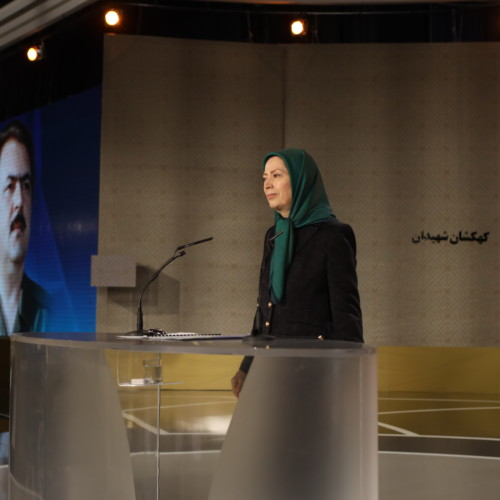 Maryam Rajavi speaks at the ceremony of 40th day of martyrdom of the victims of November uprising