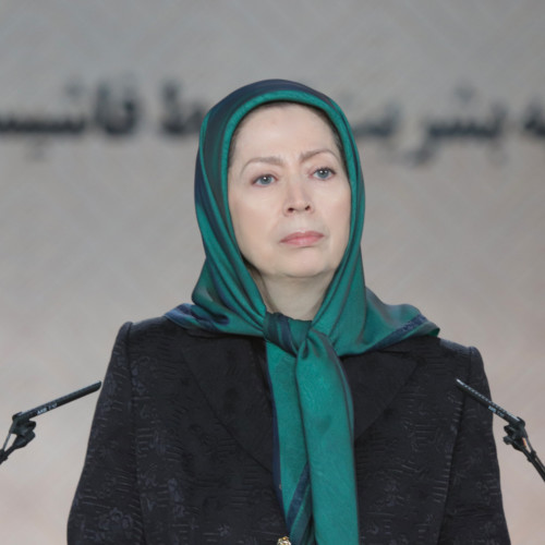 Maryam Rajavi at the ceremony of commemorating the 40th day of the martyrdom of the victims of Iran Uprising – Ashraf-3- December 2019