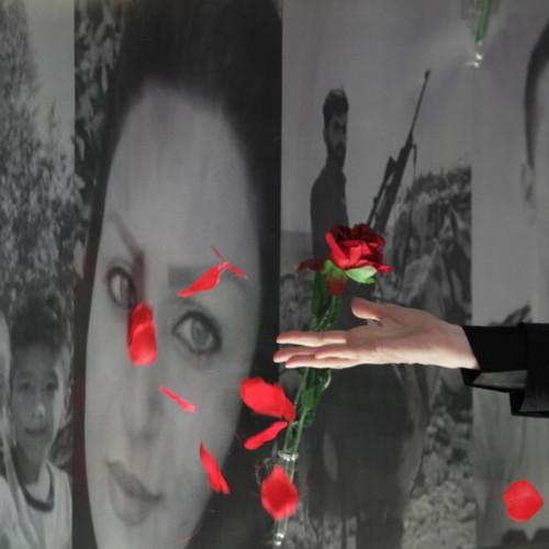 Maryam Rajavi lays flower on the memorial for martyrs –November 2019 uprising