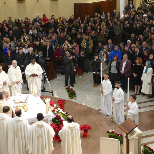 Maryam Rajavi at the Christmas Eve mass at Tirana's Saint Paul Metropolitan Archdiocese- December 25, 2019