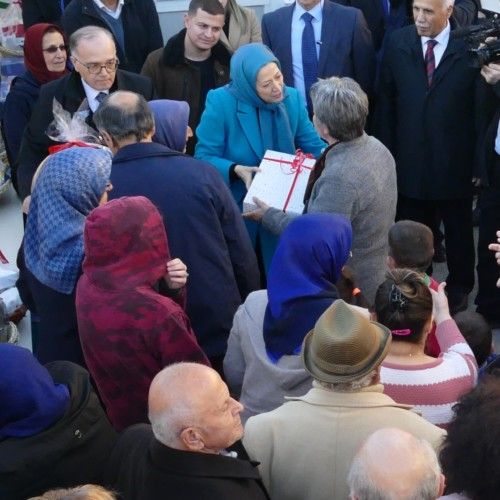 Maryam Rajavi visits victims of earthquake in Albania- December 2019