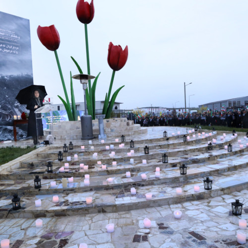 Commemorating victims of the Ukrainian airliner crash, in the presence of Maryam Rajavi at Ashraf 3- January 12, 2020