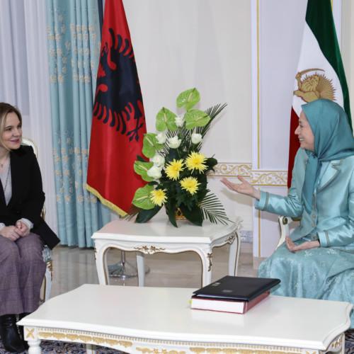 Maryam Rajavi's meeting with Mrs. Monika Kryemadhi at Ashraf 3