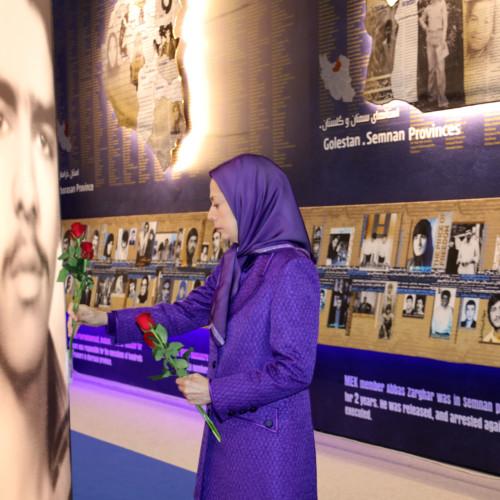 گرامیداشت شهیدان ۱۹بهمن۶۰ در موزه مقاومت با حضور مریم رجوی – اشرف۳- ۱۸بهمن ۱۳۹۸