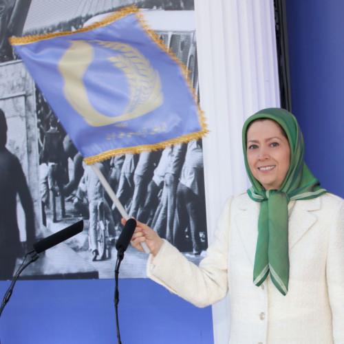Maraym Rajavi at the gathering on the Anniversary of the Anti-Monarchic Revolution – Ashraf 3 – 11 February 2020