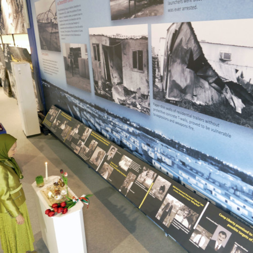 Visiting the Iranian Resistance's museum at Ashraf 3. This is the greatest and longest lasting relentless resistance in the history of Iran, having come through a bloody struggle filled with suffering, executions and massacres.