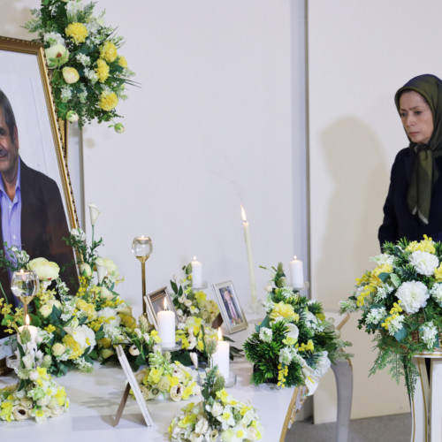 Paying tribute to the French-Spanish supporter of the Iranian Resistance, Manuel Rizquez