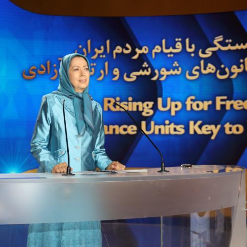 Maryam Rajavi at the Free Iran Global Summit at Ashraf 3- July 17, 2020