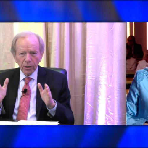 Former US Senator and Presidential candidate, Joseph Lieberman speaks during an online virtual Free Iran Global Summit with Maryam Rajavi in attendance – Ashraf 3, July 17, 2020.