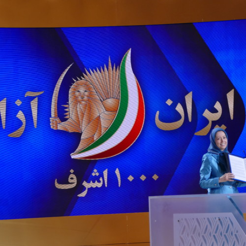 Rudy Giuliani, former New York Mayor presented a statement of support to Maryam Rajavi and the Iranian Resistance on behalf of US political personalities during the Free Iran Global Summit – Ashraf 3, July 17, 2020.