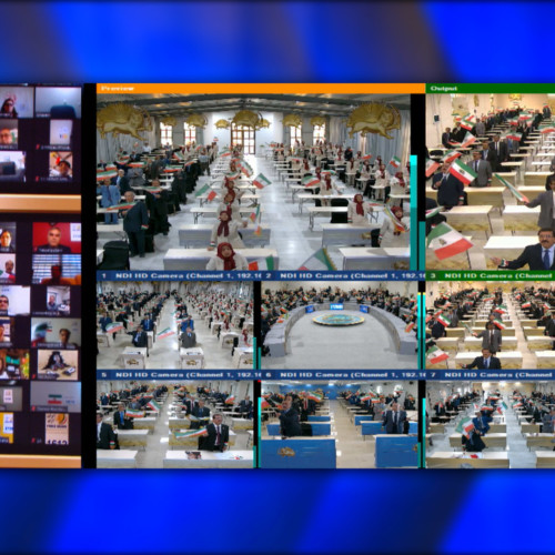 View of gathering halls in Ashraf 3 during Free Iran Global Summit with Maryam Rajavi – Ashraf 3, July 17, 2020.