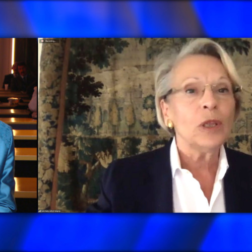 Former Defence Minister of France, Michele Alliot-Marie speaks during an online virtual Free Iran Global Summit with Maryam Rajavi in attendance – Ashraf 3, July 17, 2020.
