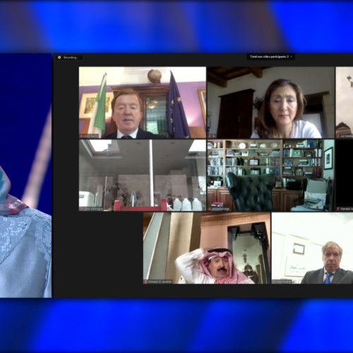 Several political dignitaries from around the world speak during an online virtual Free Iran Global Summit with Maryam Rajavi in attendance – Ashraf 3, July 17, 2020.