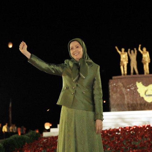 """Maryam Rajavi at the third session of the Free Iran Global Summit- The conference entitled """"Iranian Regime's Terrorism; Shut Down Tehran's Embassies, Expel its Agents and Operatives ,"""" - Ashraf 3 - July 20, 2020"""