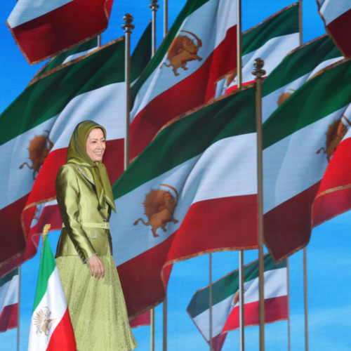 """Maryam Rajavi at the third session of the Free Iran Global Summit- The conference entitled """"Iranian Regime's Terrorism; Shut Down Tehran's Embassies, Expel its Agents and Operatives ,"""" – Ashraf 3 – July 20, 2020"""