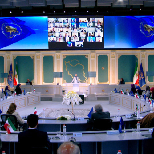 Maryam Rajavi at the three-day session of the National Council of Resistance of Iran - July 2020
