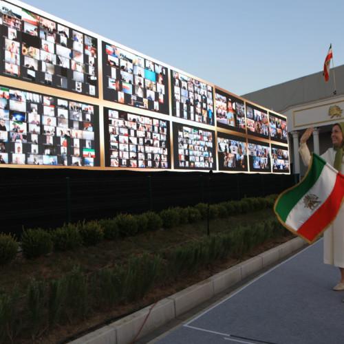 Maryam Rajavi at the founding anniversary of the People's Mojahedin Organization of Iran at Ashraf 3- September 5, 2020