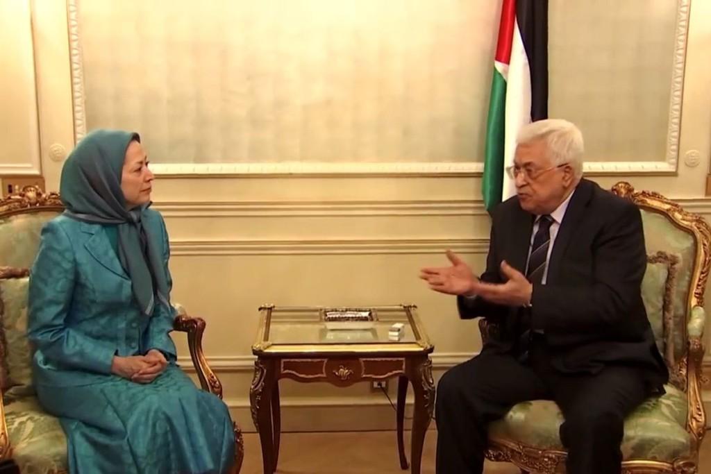 Maryam Rajavi, meets President Mahmoud Abbas
