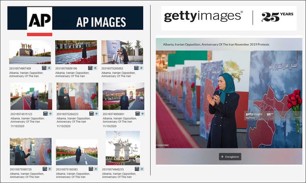 AP Image and Getty Images coverage of the anniversary of the uprising in November 2019