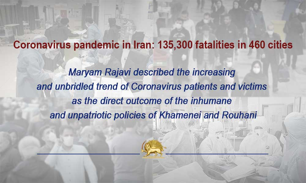 Coronavirus pandemic in Iran: 135,300 fatalities in 460 cities