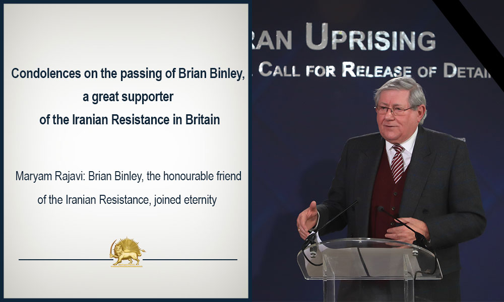 Condolences on the passing of Brian Binley, a great supporter of the Iranian Resistance in Britain
