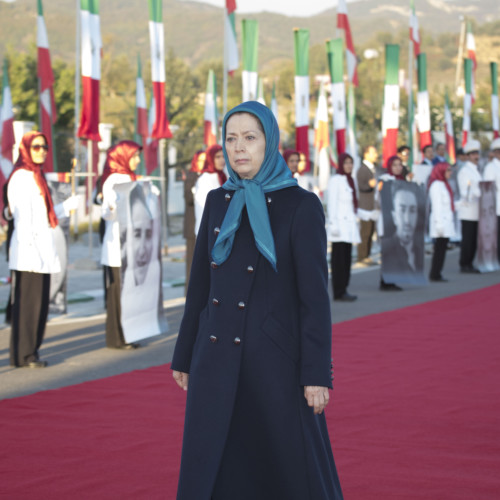 Maryam Rajavi at the anniversary of the uprising in November 2019 - November 10, 2020