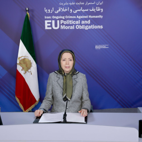 Maryam Rajavi at the the EP videoconference: Iran-Ongoing Crimes Against Humanity- October 7, 2020