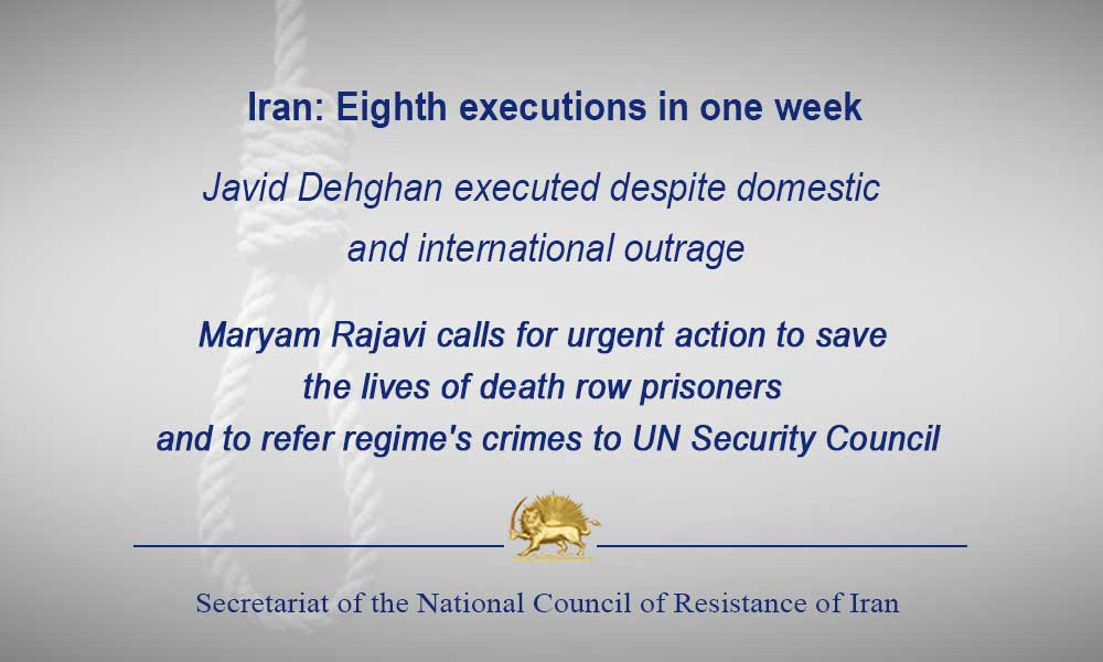 Iran: Eighth executions in one week
