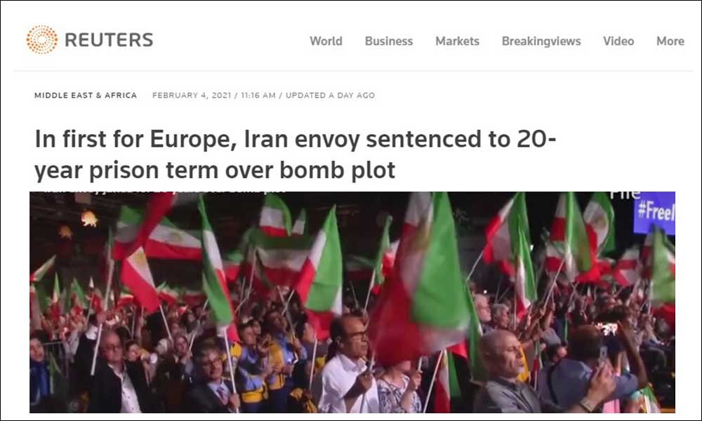 In first for Europe, Iran envoy sentenced to 20-year prison term over bomb plot