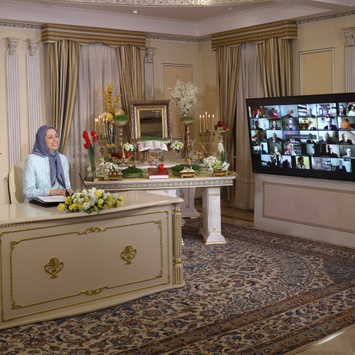 Ms. Ingrid Betancourt, former presidential candidate in Columbia, speaks to the Nowruz online conference– Auvers-sur-Oise