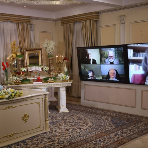 Anne Ferreira, former member of the European Parliament, speaks to the Nowruz online conference – Auvers-sur-Oise