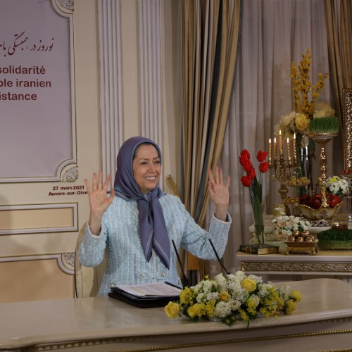 Online conference featuring Maryam Rajavi, France's elected representatives as well as social and political dignitaries - Auvers-Sur-Oise - March 27, 2021