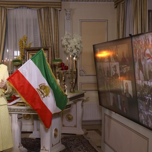 Maryam Rajavi in a gathering celebrating the Iranian New Year- March 20, 2021