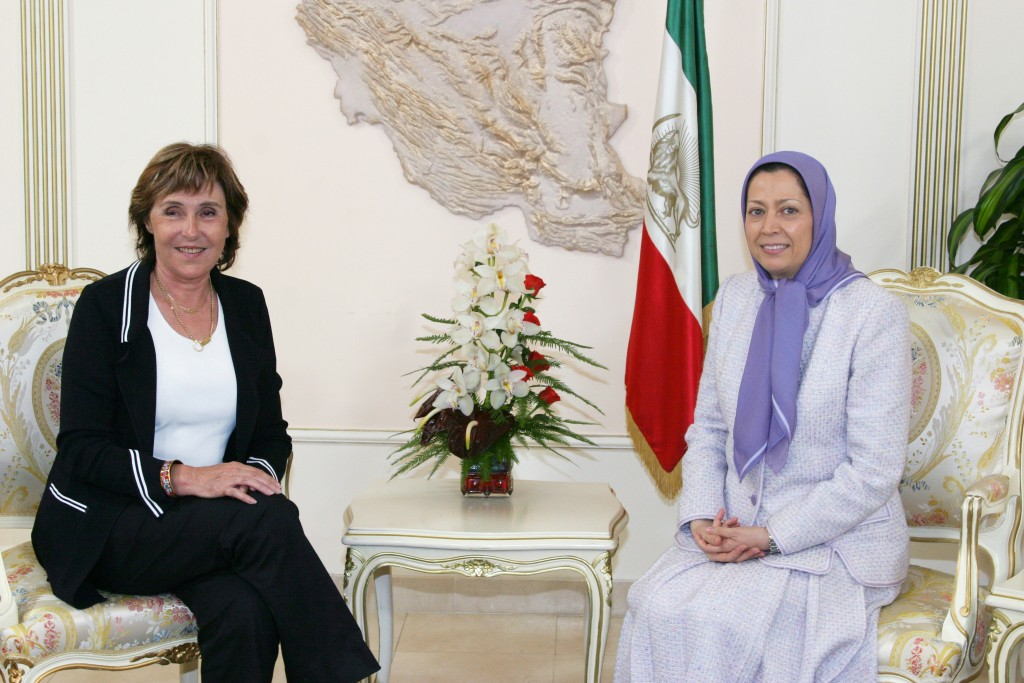 Ms. Edith Cresson, meets Mrs. Rajavi in Auver Sur Oise