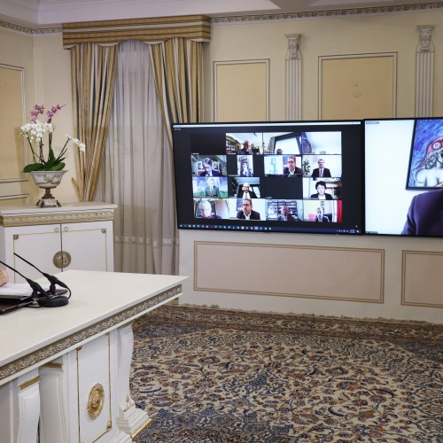 Hervé Saulignac, MP and Vice President of the French Parliamentary Committee for a Democratic Iran (CPID), addresses the online conference featuring French MPs and senators