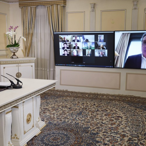 Yannick Favennec, MP and Vice President of the French Parliamentary Committee for a Democratic Iran (CPID), addresses the online conference featuring French MPs and senators